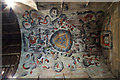 SO4876 : St Mary's church, Bromfield - 17th century painted ceiling (detail) by Mike Searle