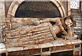 SO5174 : St Laurence's church, Ludlow - monument to Mary Eure (detail 1) by Mike Searle