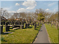 SJ5187 : The Graveyard, St Luke's Church, Farnworth by David Dixon