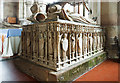 SJ7907 : St Bartholomew's church, Tong - table-tomb of Sir Richard Vernon &amp; his wife Benedicta (detail 3) by Mike Searle
