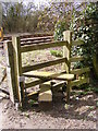 TM4072 : Stile of the footpath over the railway by Adrian Cable