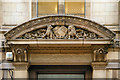 SJ8398 : 8-10 Booth Street detail over the doorway by David Dixon