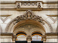 SJ8398 : 8-10 Booth Street, detail over first floor windows by David Dixon