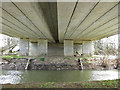 SE8173 : River Derwent passing under the A64 by Pauline Eccles