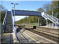 TQ8355 : The footbridge at Hollingbourne station by Ian Yarham