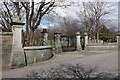 NJ9304 : Cemetery Gates by Bill Harrison