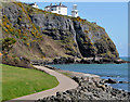 J4892 : The Blackhead path and lighthouse, Whitehead by Albert Bridge