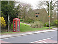 SK7156 : Hockerton telephone kiosk by Alan Murray-Rust