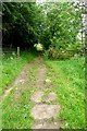 SK2361 : Footpath at Birchover by Graham Horn