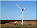 NT8468 : A turbine at Drone Hill Wind Farm by Walter Baxter
