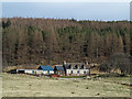 NH5791 : Cottage on north side of Strathcarron by Trevor Littlewood