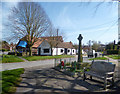 SP6801 : War Memorial &amp; Old Forge, Tetsworth by Des Blenkinsopp