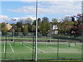 TQ2472 : Tennis courts on Wimbledon Park by David Howard