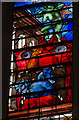 TL4458 : Stained glass window - detail - King's College Chapel by TheTurfBurner