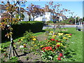 Dist:0.5km<br/>This colourful flowerbed is at the junction of Malden Road and Amberwood Rise.