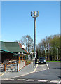 TG3209 : Transmission mast in Yarmouth Road by Evelyn Simak