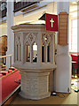 TQ3975 : St Michael &amp; All Angels, Pond Road, Blackheath Park - Pulpit by John Salmon