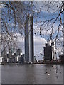 TQ2977 : St George's Wharf Tower and River Thames by R Sones