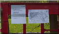 SJ6588 : Path closure notice by Ian Greig