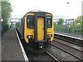 SJ4476 : Stanlow & Thornton railway station, Cheshire by Nigel Thompson