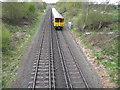 SJ3675 : Railway line between Capenhurst and Hooton Stations by Maggie Cox