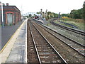 SJ5795 : Earlestown railway station by Nigel Thompson