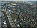 SJ8285 : Manchester Airport from the air by Thomas Nugent