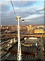 TQ3980 : View from Emirates Air Line cable car, East London by claire macneill
