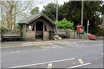 ST6257 : Bus shelter at Temple Cloud by Philip Jeffrey
