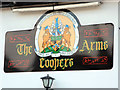 TQ7468 : The Coopers Arms sign by Oast House Archive