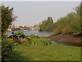 TQ2178 : Low tide at Chiswick Mall by Row17