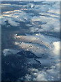 NS9611 : Beattock Summit wind farm from the air by Thomas Nugent