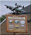 TA1417 : Village sign and Lancaster bomber by Steve  Fareham