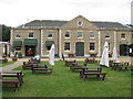 TF8842 : Caf&eacute; and outdoor seating, Holkham Hall by Pauline Eccles