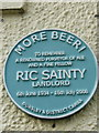 Photo of Ric Sainty blue plaque