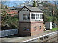 SO0561 : Signal Box - Railway Station by Betty Longbottom