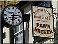 J0890 : James McKeown and Pawn Broker sign by Kenneth  Allen