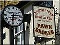 J0890 : James McKeown and Pawn Broker sign by Kenneth  Allen