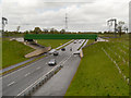 SJ8376 : Railway Bridge over Melrose Way (A34) by David Dixon