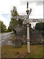 SJ8476 : Signpost at Nether Alderley Cross by David Dixon