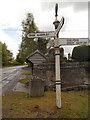 SJ8476 : Signpost at Nether Alderley Cross by David Dixon