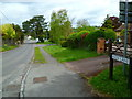 SU9087 : Looking west along Kiln Lane to the roundabout at Cores End by Shazz