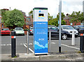J3473 : E-car charging point, Belfast (2) by Albert Bridge