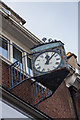 TQ3192 : Clock in Green Lanes, Palmers Green, London N13 by Christine Matthews