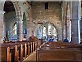 NU1241 : Interior of the church of St Mary the Virgin. Holy Island by Derek Voller