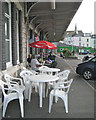 SX9473 : Breakfast at the Whistle Stop caf&eacute;, Teignmouth station by Robin Stott