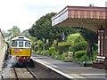 ST0243 : Diesel locomotive passing through Blue Anchor Station : Week 20