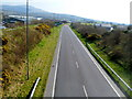 SH4652 : A view south along the A487, Penygroes by John Grayson