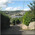 SX9272 : Looking down Salty Lane, Ringmore by Robin Stott