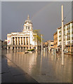 SK5739 : Market Square: a sudden downpour by John Sutton